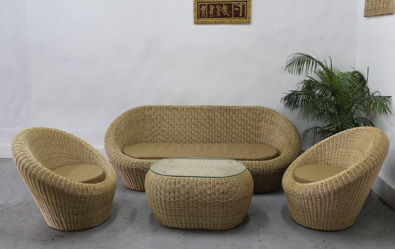 Bamboo Sofa Set Online Shopping | Cane Sofa Set Price In Chennai Regarding Ken Sofa Sets (Image 2 of 20)
