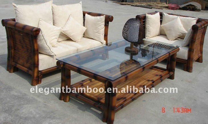 Bamboo Sofa Sets With Antique Charcoal Smoke Color – Buy Wooden Regarding Bamboo Sofas (Image 13 of 20)