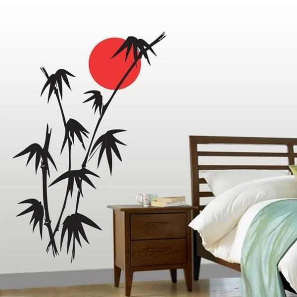 Bamboo – Wall Stickersilhouette Design | Wall Art | Indiebazaar Pertaining To Wall Art Designs (Image 2 of 20)