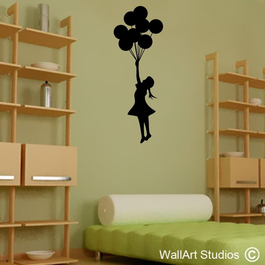 Banksy Street Art | Banksy Wall Art Decals & Stickers | Wall Art Pertaining To Street Wall Art Decals (Image 6 of 20)