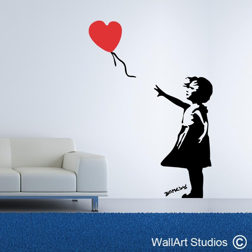 Banksy Street Art | Banksy Wall Art Decals & Stickers | Wall Art Throughout Street Wall Art Decals (Image 7 of 20)