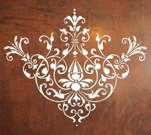 Baroque Design Wall Decal Sticker Graphic Mural Design Modern Art Pertaining To Graphic Design Wall Art (Image 2 of 20)