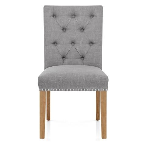 Barrington Oak Dining Chair Grey Fabric – Atlantic Shopping With Regard To Recent Grey Dining Chairs (Image 3 of 20)
