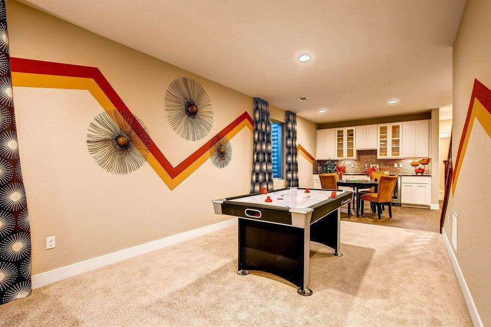 Basement Game Room Basement Traditional With Wonderland Homes For Wall Art For Game Room (Image 6 of 20)
