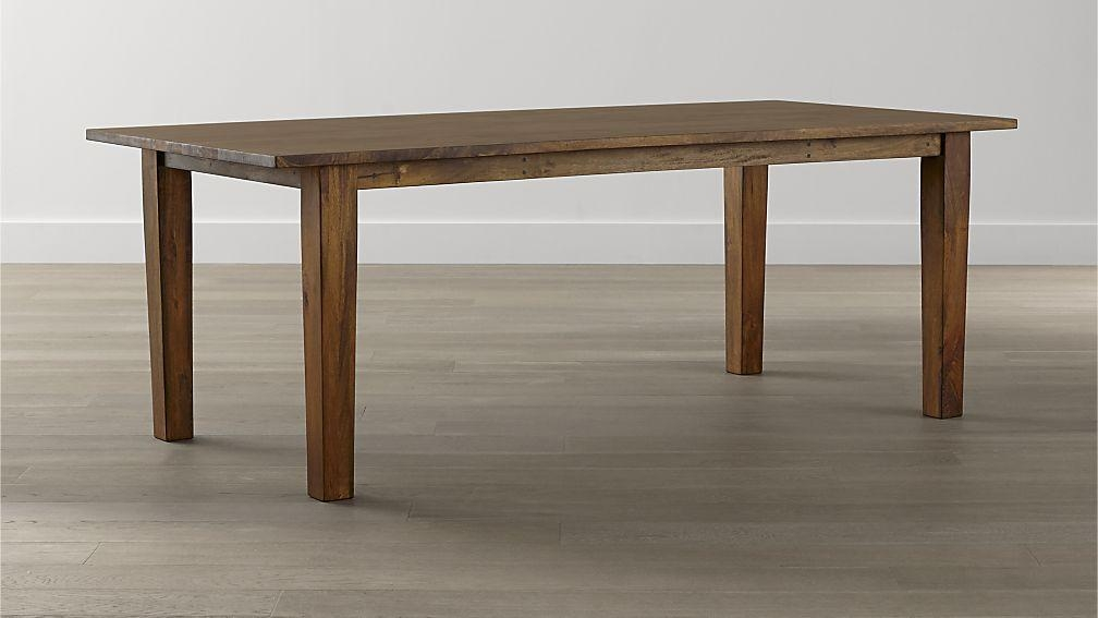 Basque Honey Dining Tables | Crate And Barrel Throughout Newest Dining Tables (Image 2 of 20)