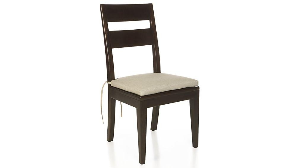 Basque Java Wood Dining Chair And Cushion | Crate And Barrel In Latest Java Dining Tables (Image 8 of 20)