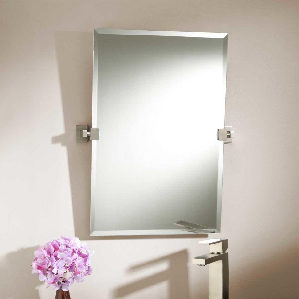 Bathroom : 2017 Elegant Rectangle Mirror Vanity Adjustable Brushed Within Adjustable Bathroom Mirrors (Image 1 of 20)