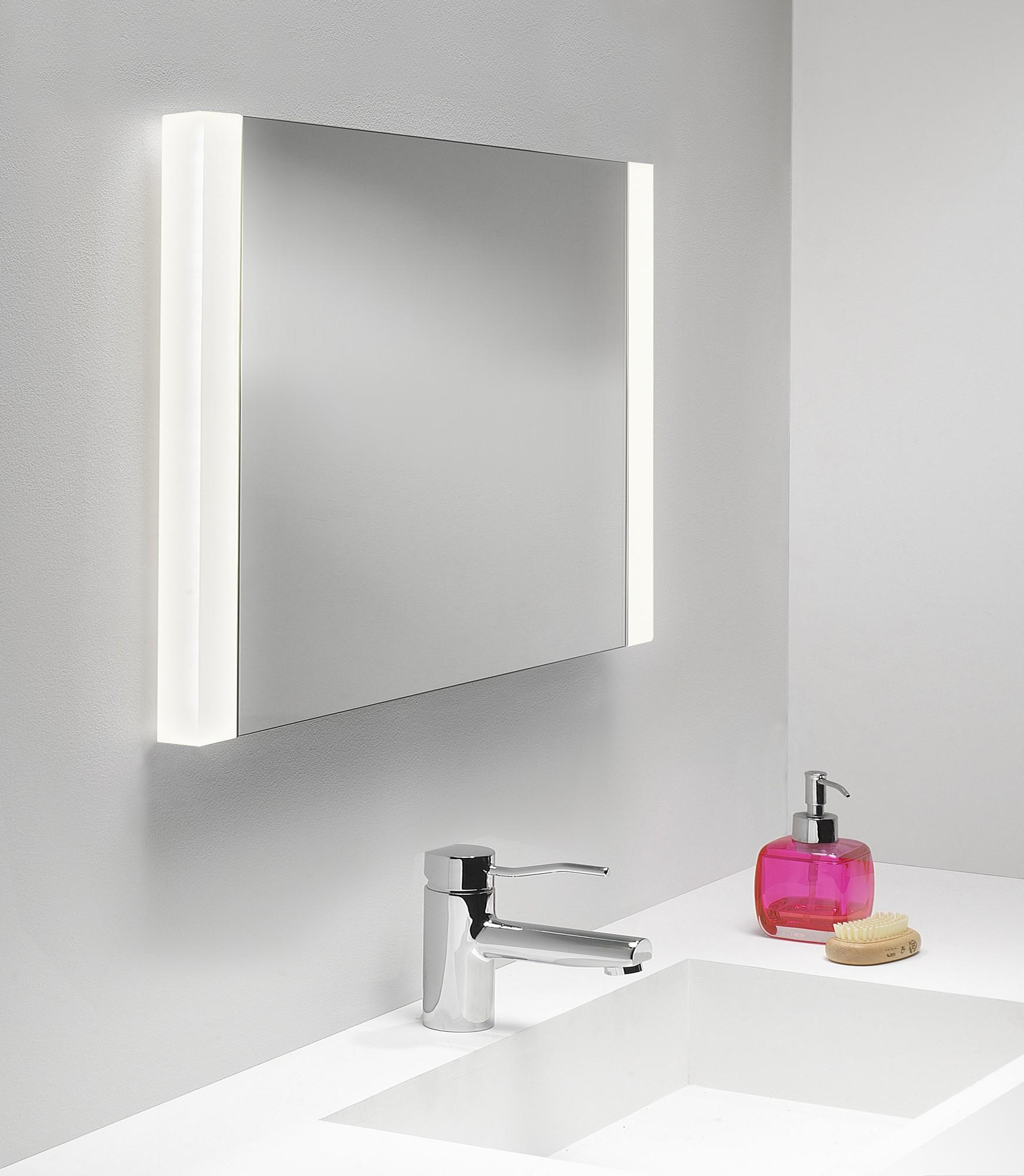 Bathroom Amusing White Mirror Design Framed Vanity With Cabinets With Regard To Bathroom Mirrors Lights (View 8 of 20)
