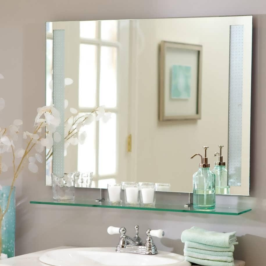 Bathroom : Bathroom Vanity Mirrors Traditional Mirrors For Inside Large Flat Bathroom Mirrors (Image 1 of 20)