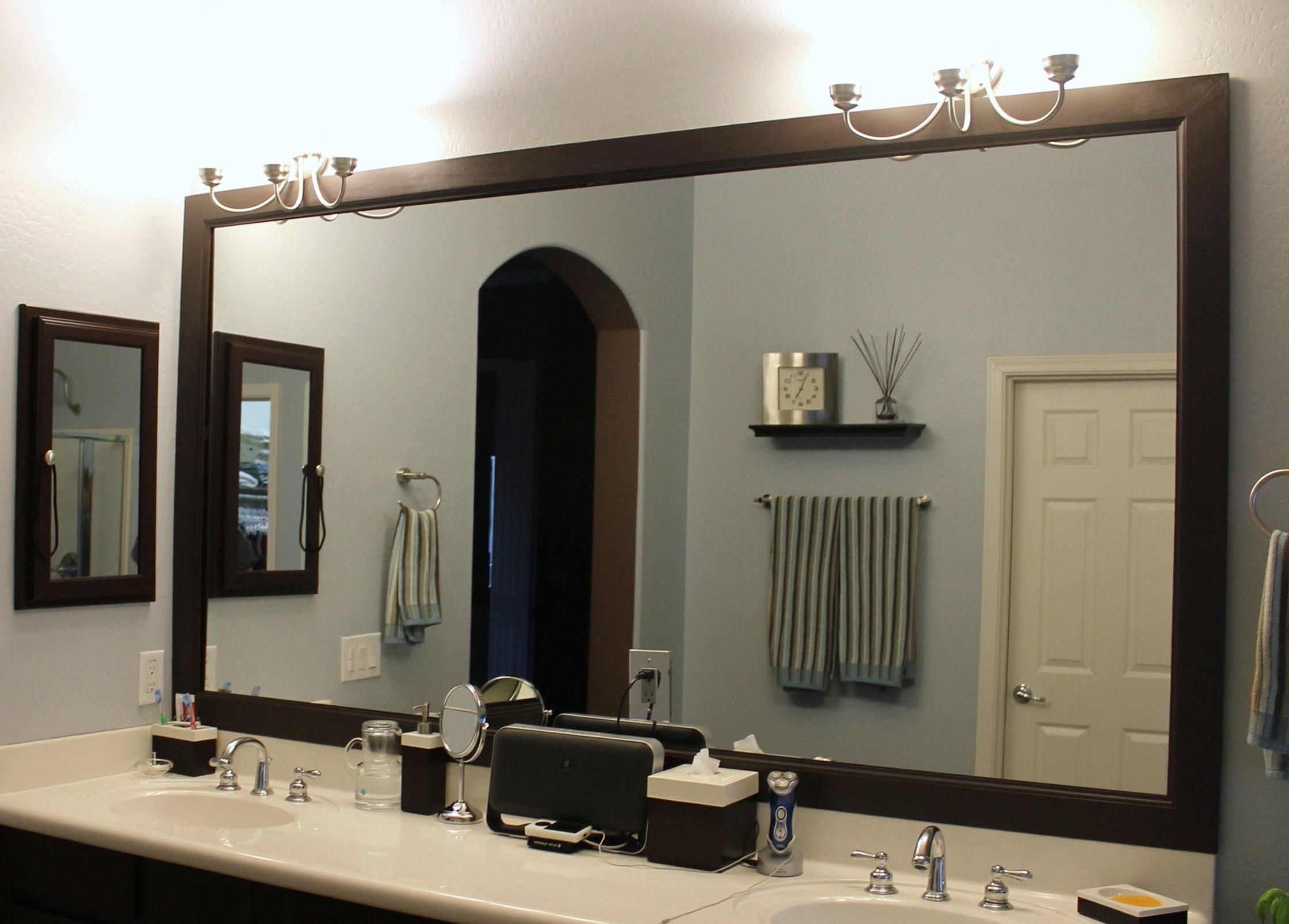 Bathroom : Beautiful Bathroom Mirror Ideas For A Small Bathroom Intended For Decorative Mirrors For Bathroom Vanity (View 12 of 20)