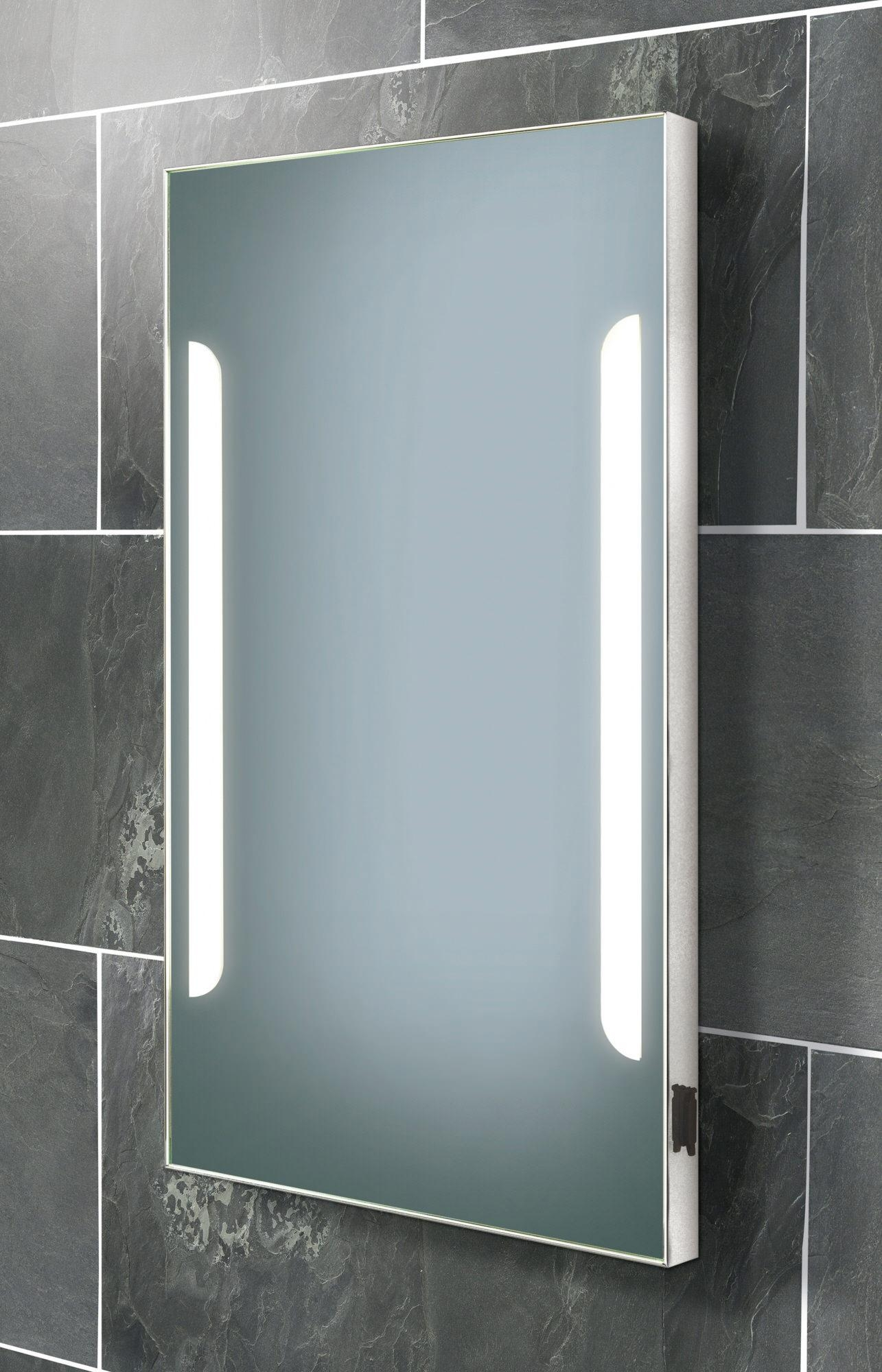 Bathroom : Beautiful Countertop Makeup Mirrors With Light Backlit Throughout Vanity Mirrors With Built In Lights (Image 1 of 20)