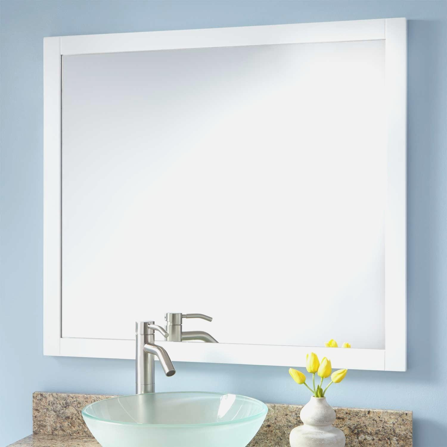 Bathroom : Best Framed Mirrors Bathroom Designs And Colors Modern  Pertaining To Modern Framed Mirrors (