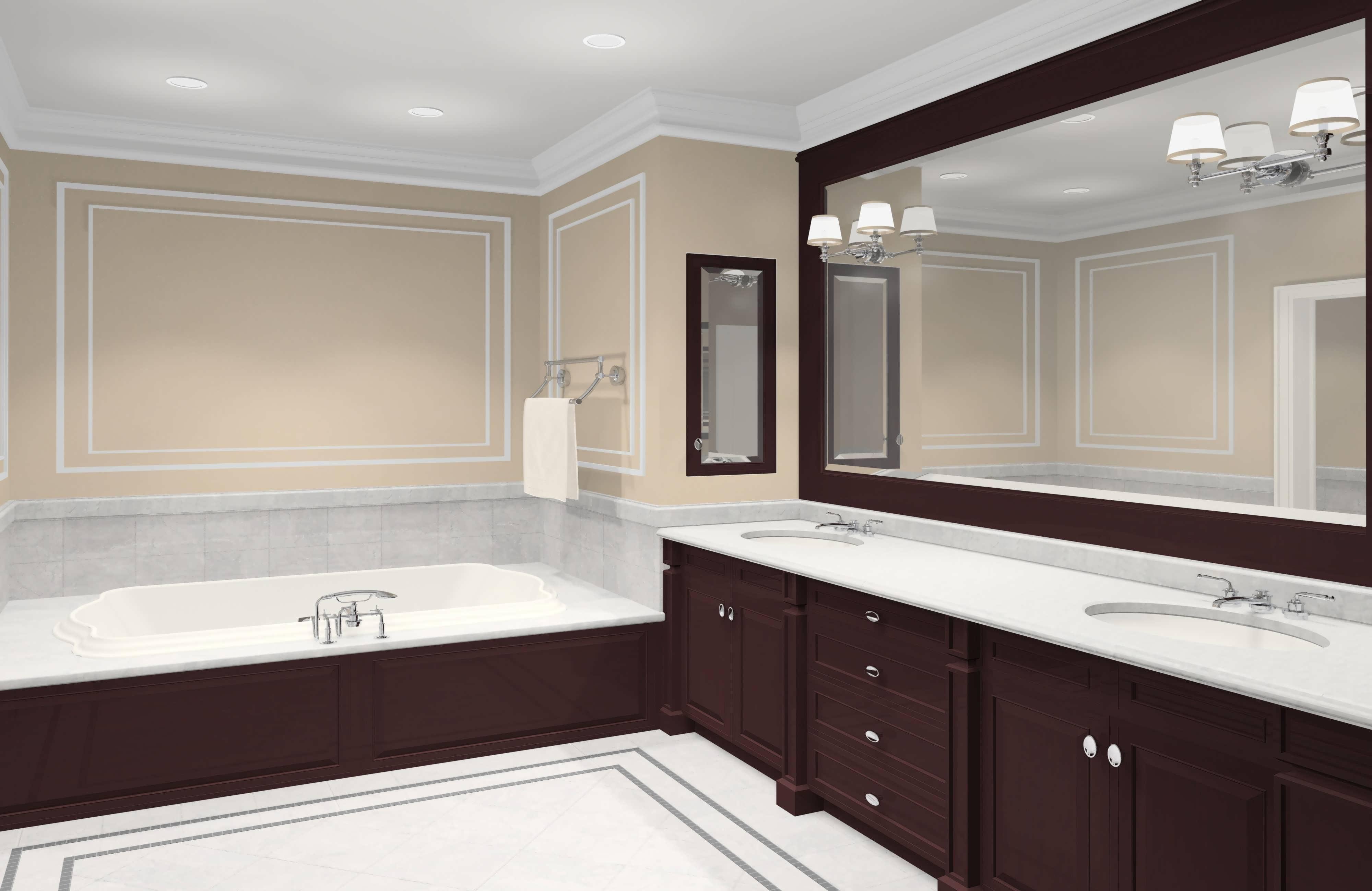 Bathroom Cabinets : 24 X 30 Mirror Double Vanity Mirror Bathroom In Large Framed Bathroom Wall Mirrors (Image 3 of 20)