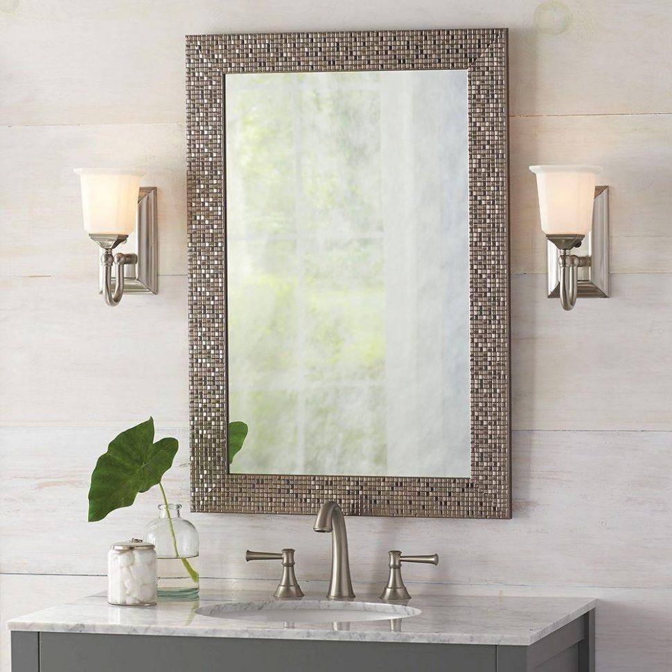 Bathroom Cabinets : Antique Bathroom Mirrors Bath Mirrors Regarding Long Rectangular Mirrors (Image 1 of 20)