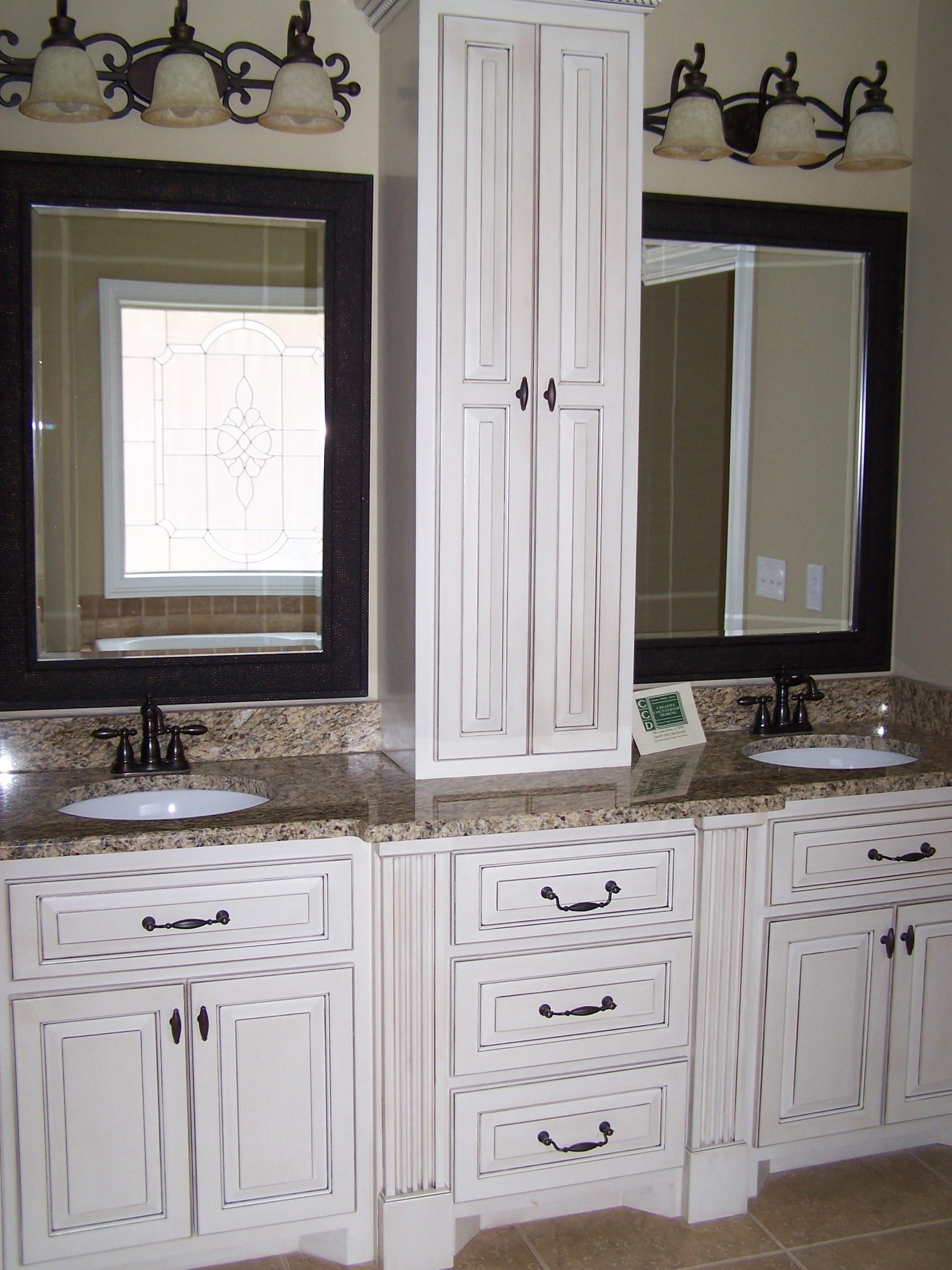 Bathroom Cabinets : Bath Mirrors Mirror Bathroom Countertop In Custom  Bathroom Vanity Mirrors (Image 3