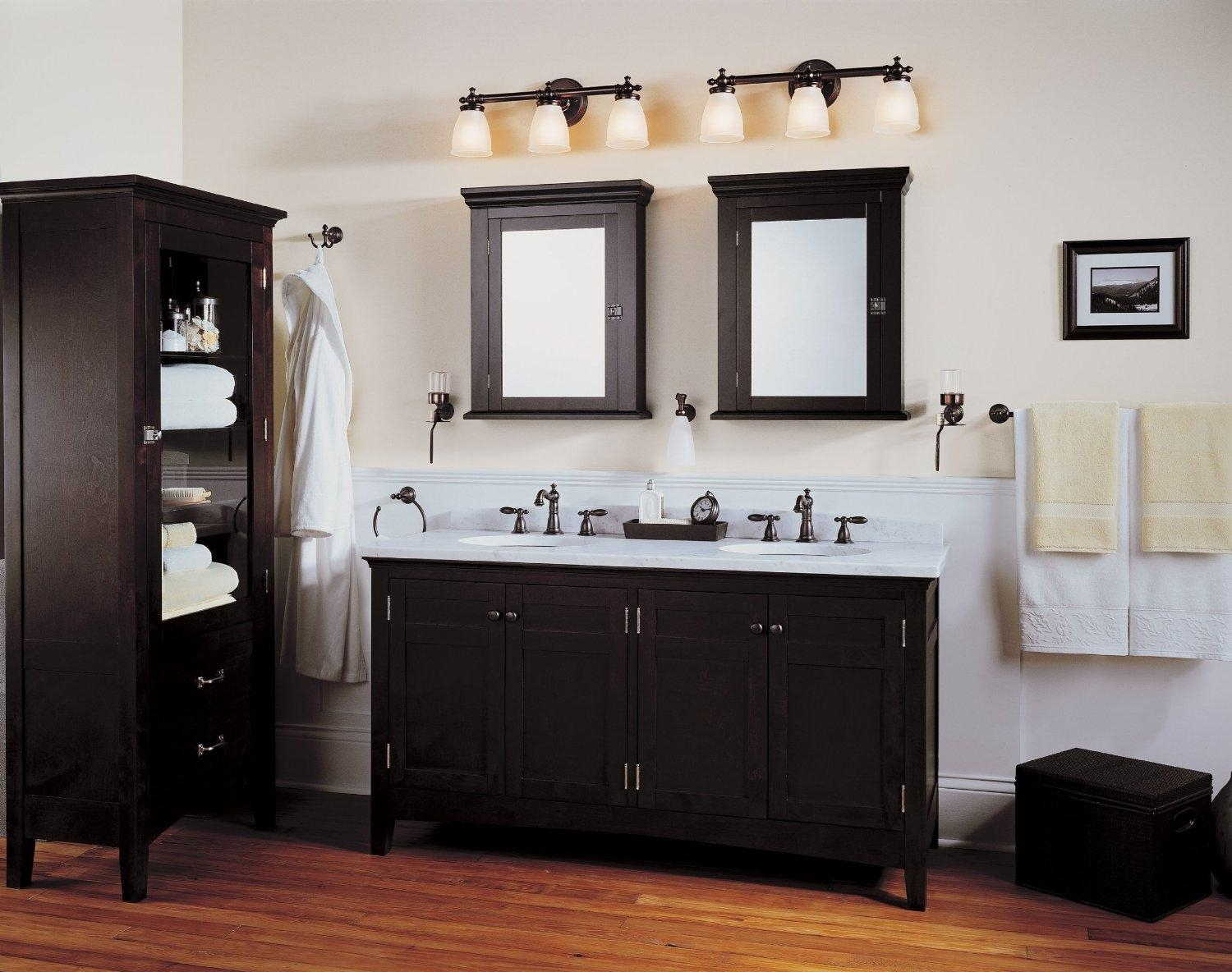 Bathroom Cabinets : Bathroom Lighting And Mirrors Bathroom Lights Pertaining To Bathroom Lighting And Mirrors (Image 4 of 20)