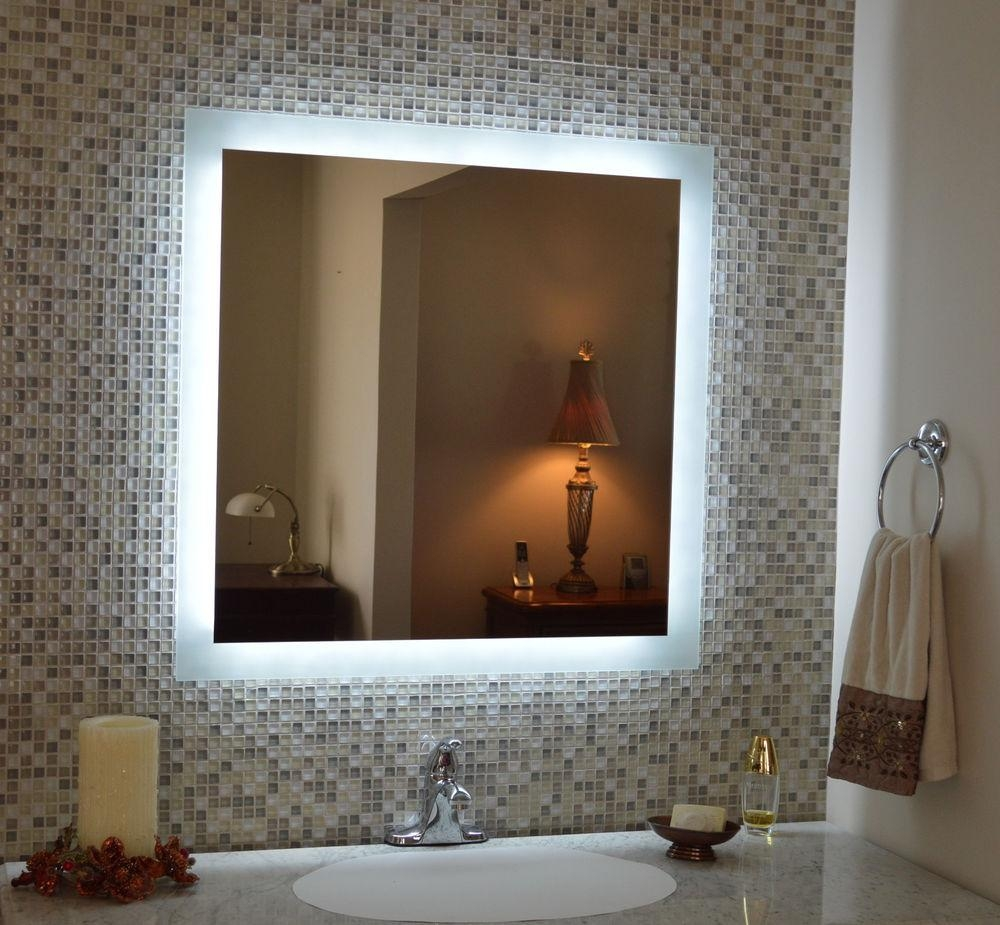 Bathroom Cabinets : Beautiful Ideas Light Up Mirrors Bathroom For Bathroom Lighted Vanity Mirrors (Image 6 of 20)