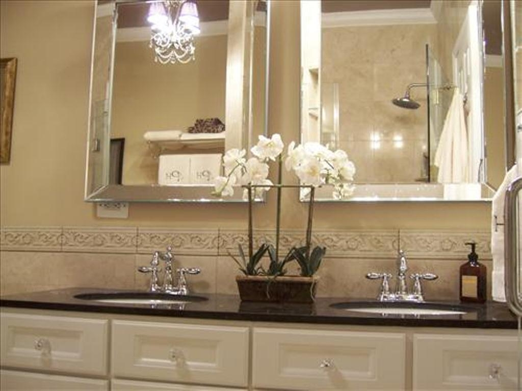 Bathroom Cabinets : Beveled Bathroom Mirrors Frameless Home Regarding Frameless Beveled Bathroom Mirrors (Image 3 of 20)