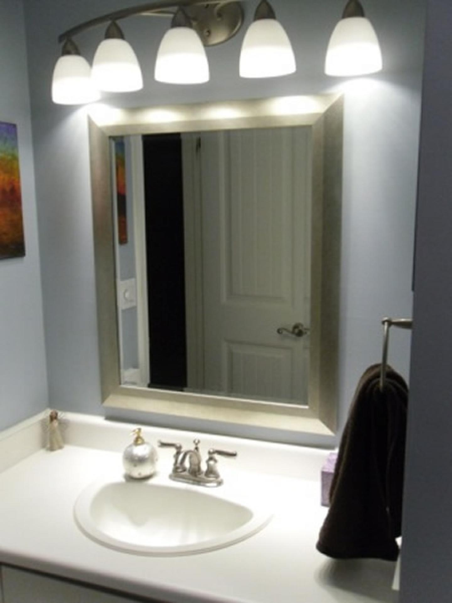 Bathroom Cabinets : Breathtaking Light Fixtures Shades Bathroom Regarding Bathroom Lighting And Mirrors (Image 5 of 20)
