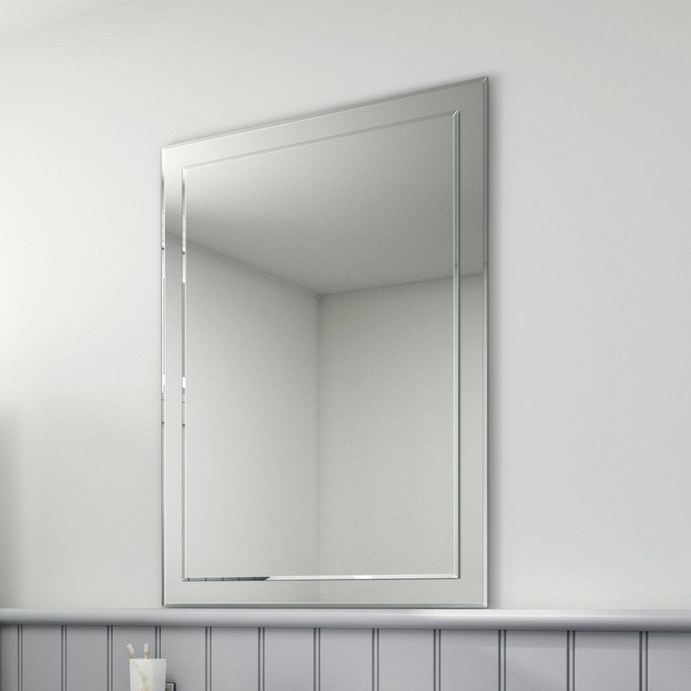 Bathroom Cabinets : Cheap Large Mirrors Cheap Frameless Mirrors Regarding No Frame Wall Mirrors (Image 1 of 20)