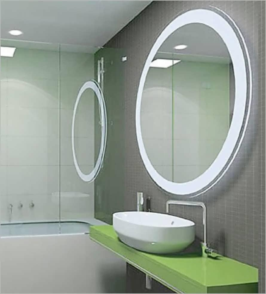 Bathroom Cabinets : Corner Mirrors With Lights For Bathroom Narrow Throughout Corner Mirrors (Image 8 of 20)