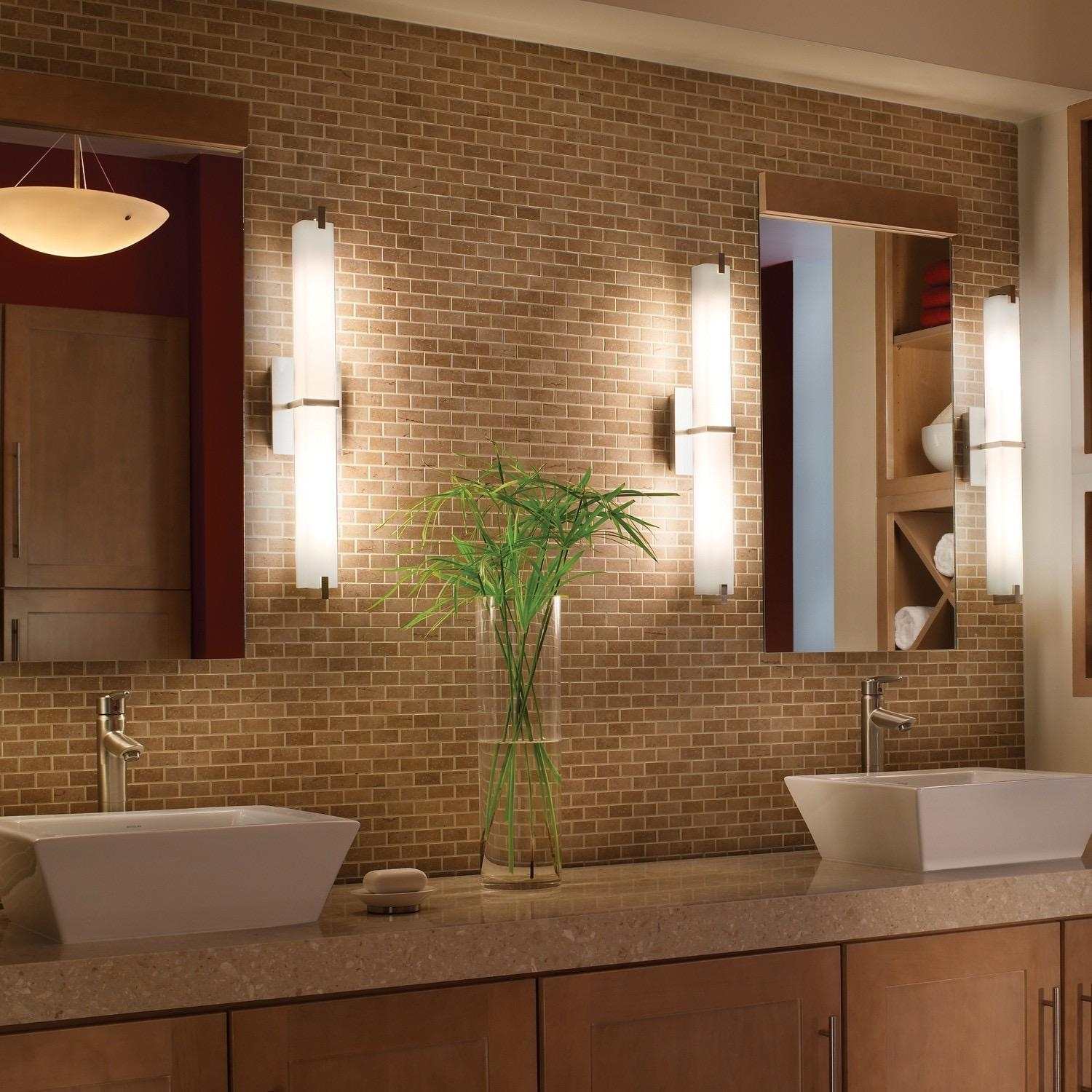 Bathroom Cabinets : Cozy Inspiration Bathroom Lights And Mirrors Within Bathroom Lights And Mirrors (Image 4 of 20)