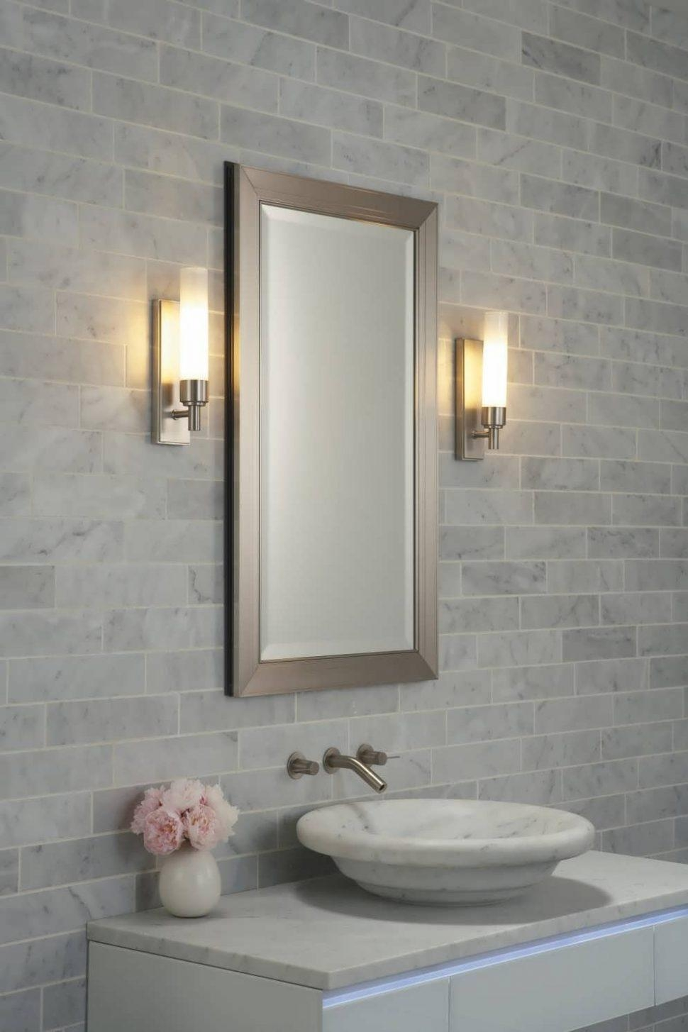 Bathroom Cabinets : Custom Beveled Mirror Commercial Bathroom Throughout Custom Bathroom Mirrors (Image 6 of 20)