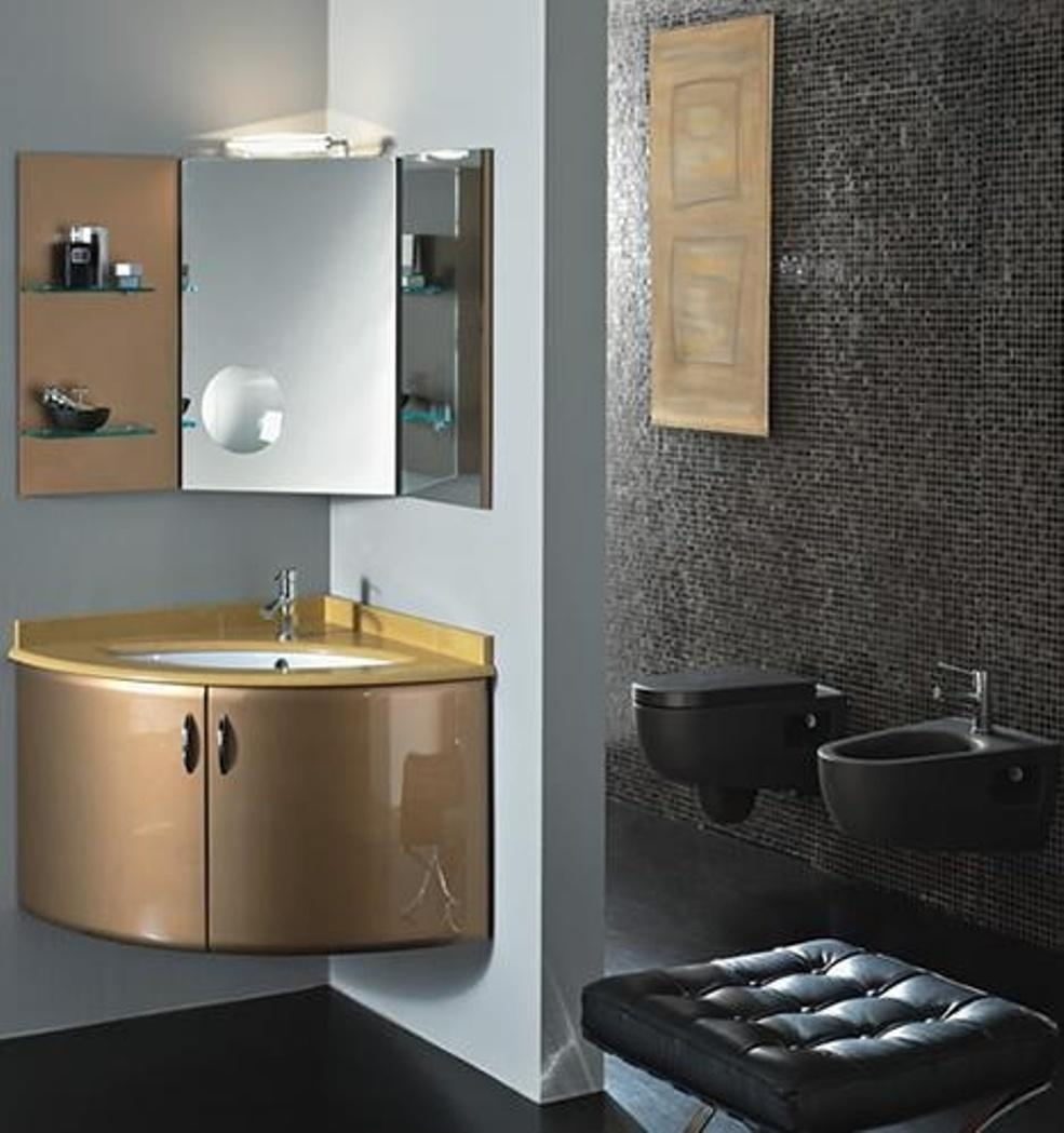 Bathroom Cabinets : Epic Corner Bathroom Cabinets And Mirrors Pertaining To Corner Mirrors (Image 9 of 20)
