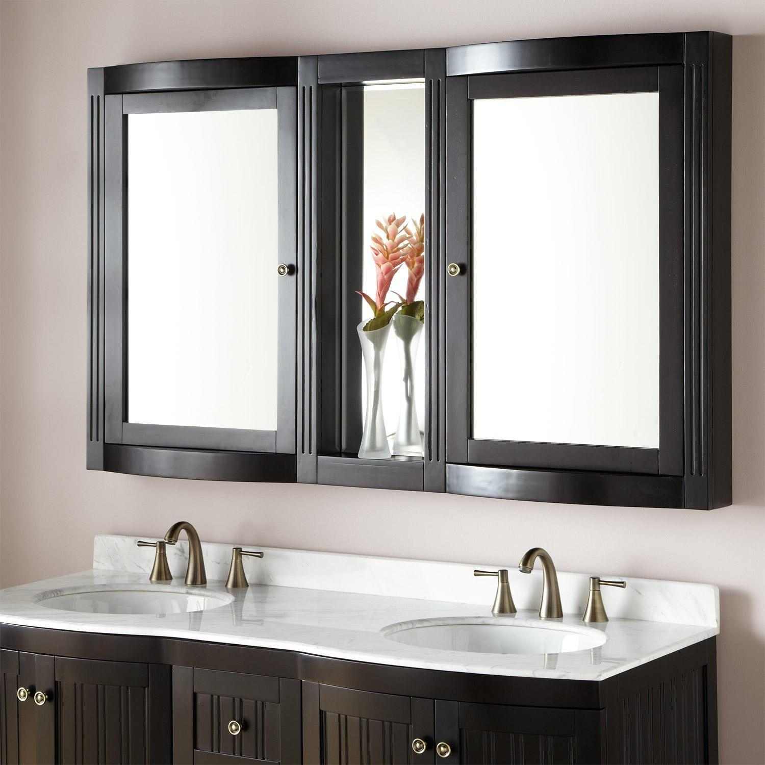 Bathroom Cabinets : Espresso Lighted Bathroom Cabinets With Regarding Bathroom Cabinets Mirrors (Image 4 of 20)