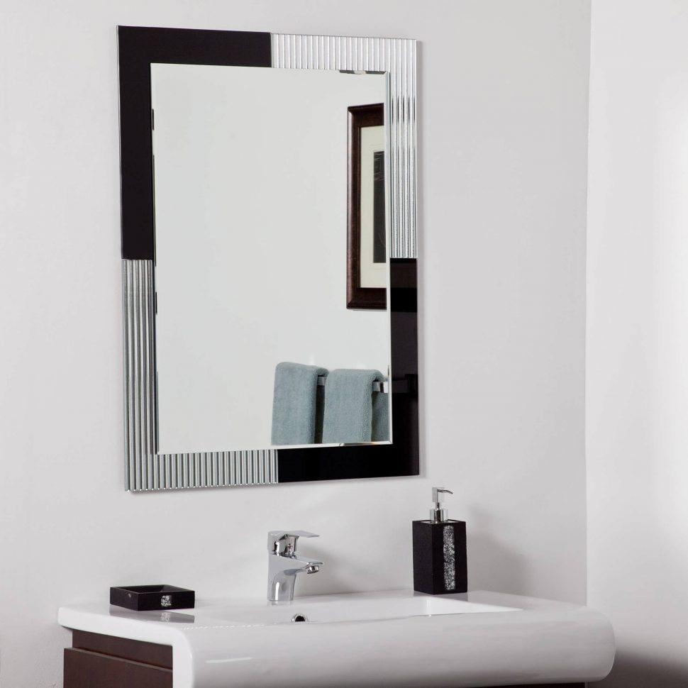 Bathroom Cabinets : Fancy Mirror Best Bathroom Mirrors Backlit Inside Large Flat Bathroom Mirrors (Image 5 of 20)
