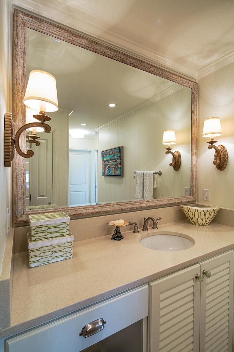 Bathroom Cabinets : Good Framed Mirrors In Master Bathroom Custom Pertaining To Custom Framed Mirrors Online (Image 2 of 20)