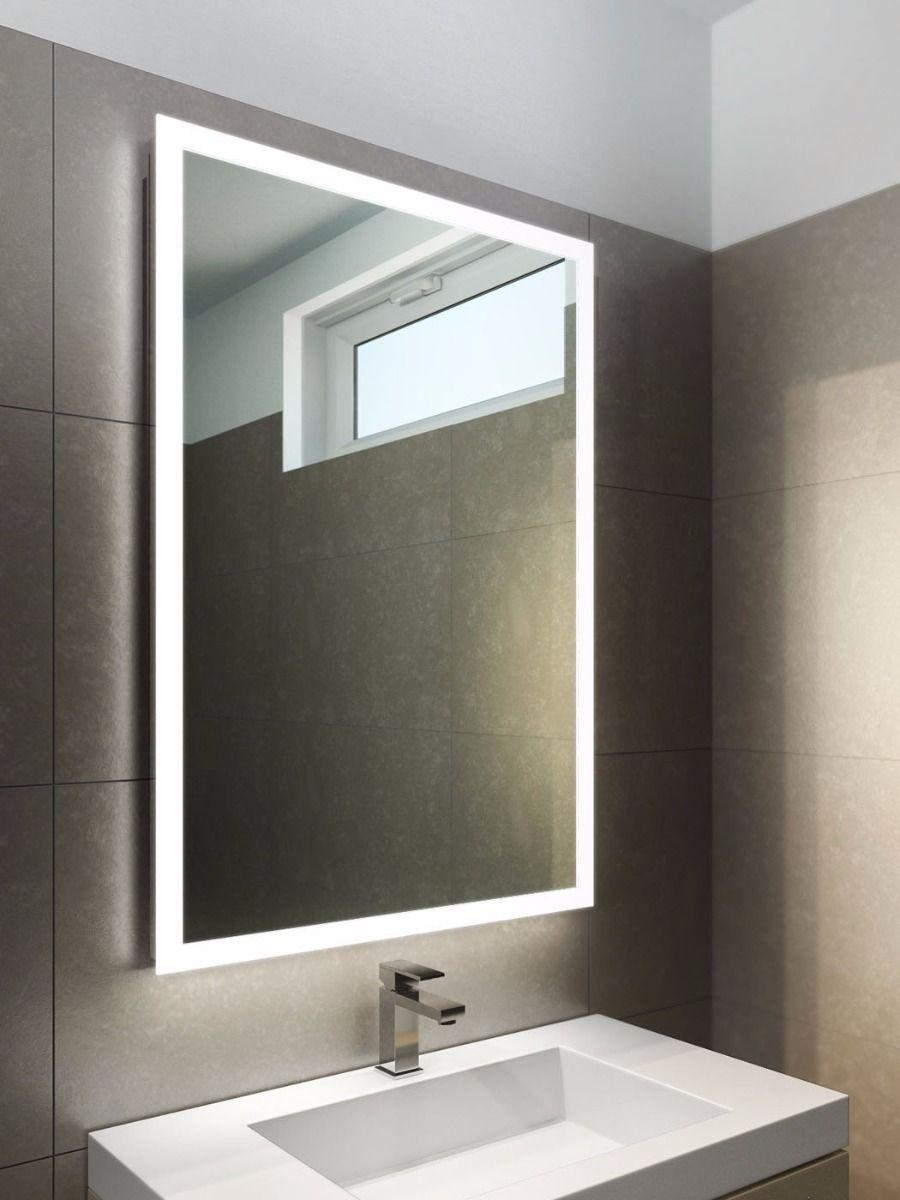 Bathroom Cabinets : Halo Tall Light Bathroom Mirror Cabinets With In Bathroom Mirrors With Led Lights (Image 8 of 20)