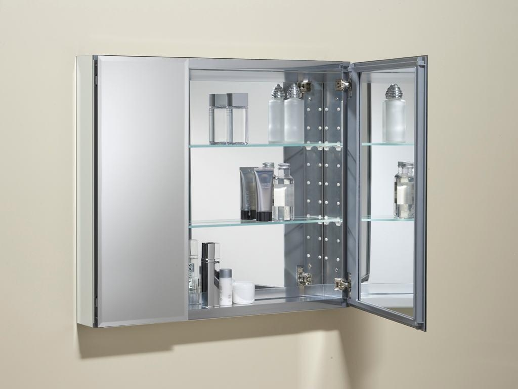 Bathroom Cabinets : Home Depot Recessed Medicine Cabinet In 3 Door Medicine Cabinets With Mirrors (Image 7 of 20)