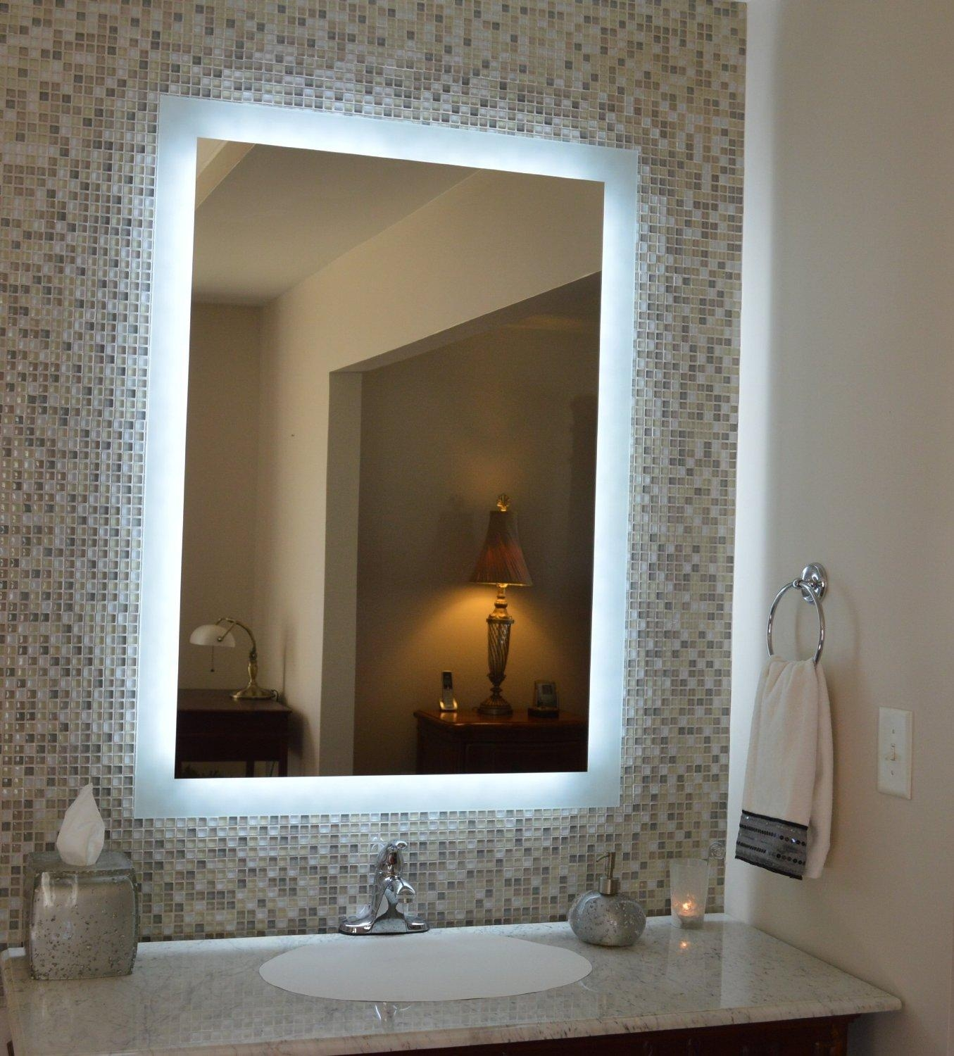 Lighted Bathroom Wall Mirror Large: 20 Inspirations Bathroom Wall Mirrors With Lights