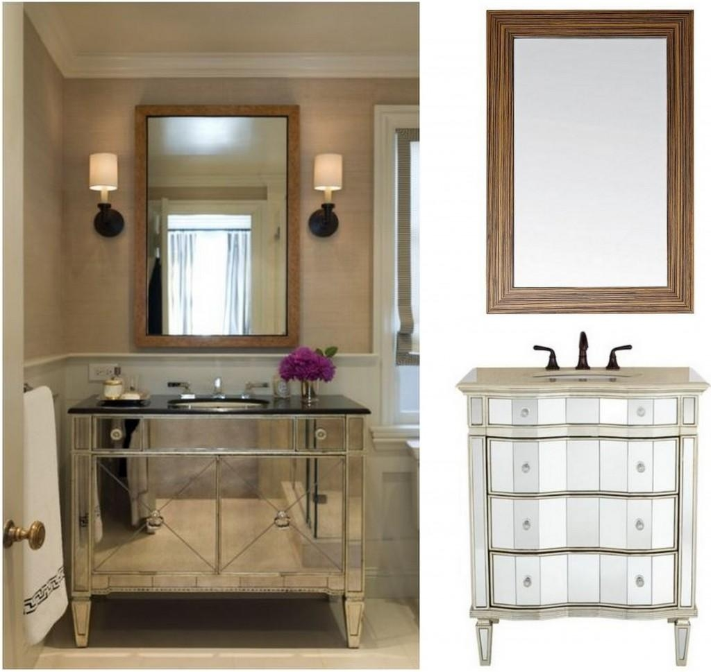 Bathroom Cabinets : Inspiring Design Mirrors For Bathroom Vanity For Small Bathroom Vanity Mirrors (View 3 of 20)