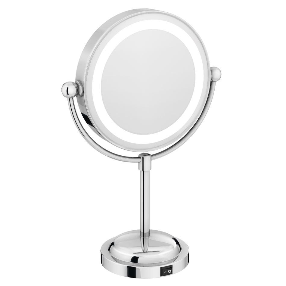 Bathroom Cabinets : Led Illuminated Free Standing Cosmetic For Free Standing Bathroom Mirrors (Image 6 of 20)