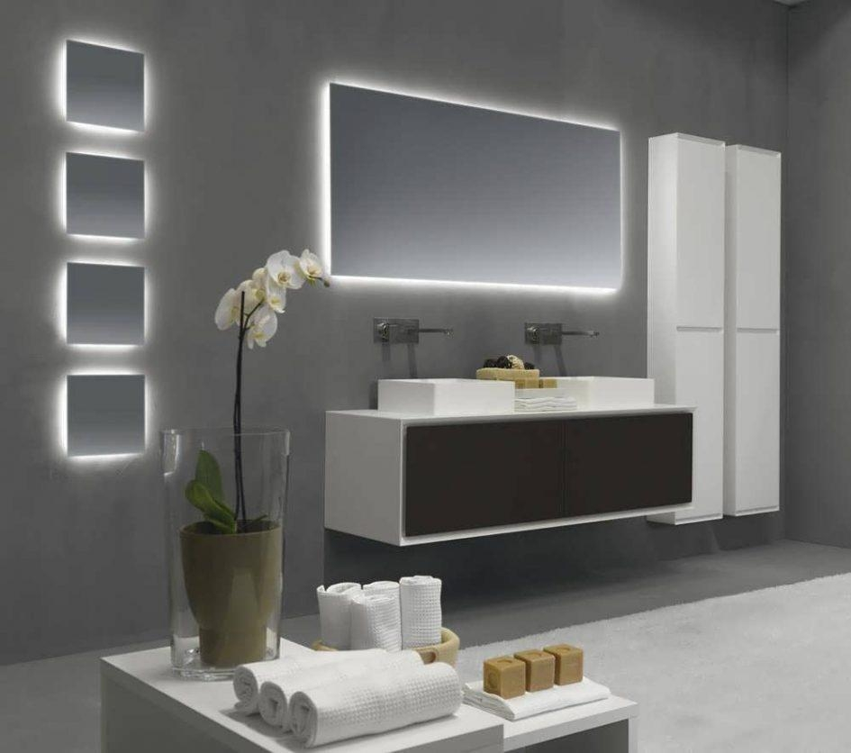 Bathroom Cabinets : Led Mirror Bathroom Wall Mirror Bathroom Regarding Modern Mirrors For Bathrooms (Image 6 of 20)