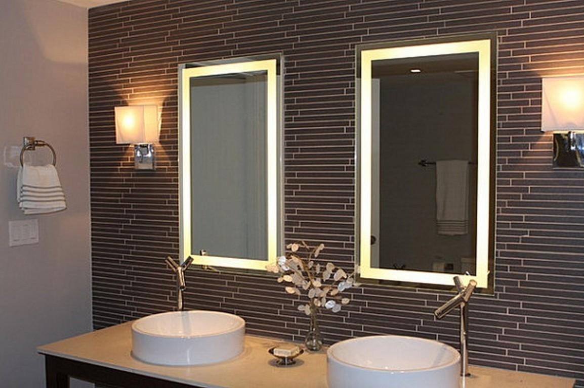 Bathroom Cabinets : Light Up Makeup Vanity Oversized Mirrors Led Intended For Light Up Bathroom Mirrors (Image 9 of 20)