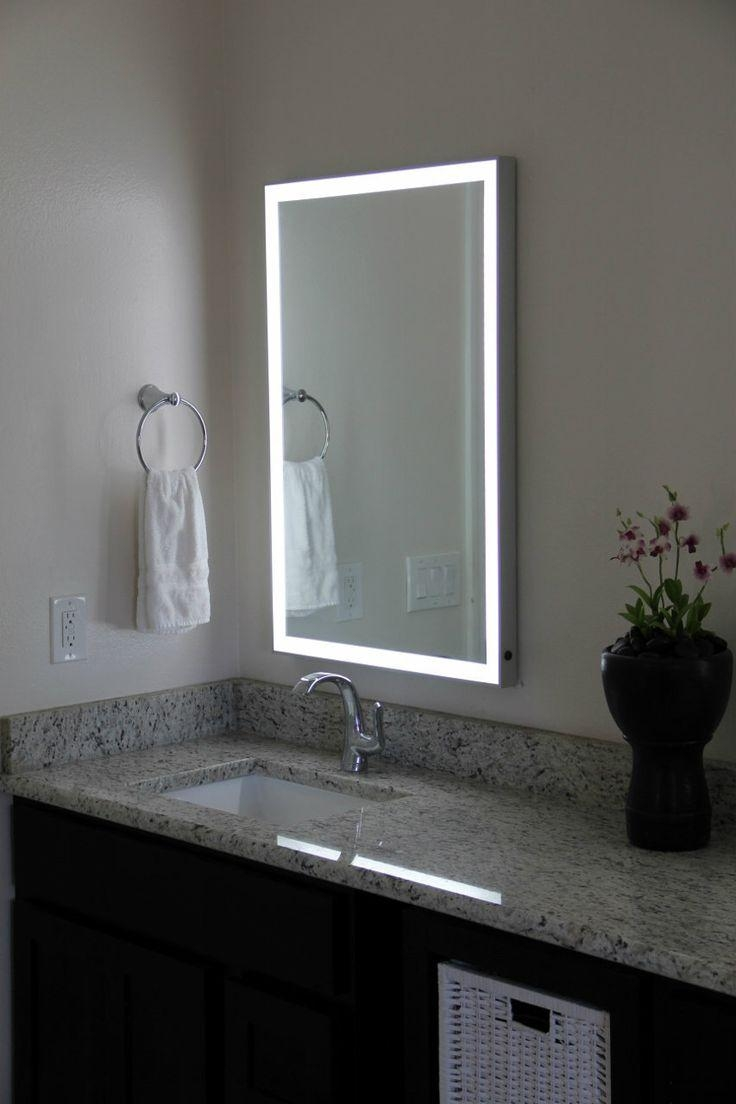 Bathroom Cabinets : Lighted Mirror Miller Bathroom Mirrors Led Pertaining To Led Lighted Mirrors (Image 4 of 20)