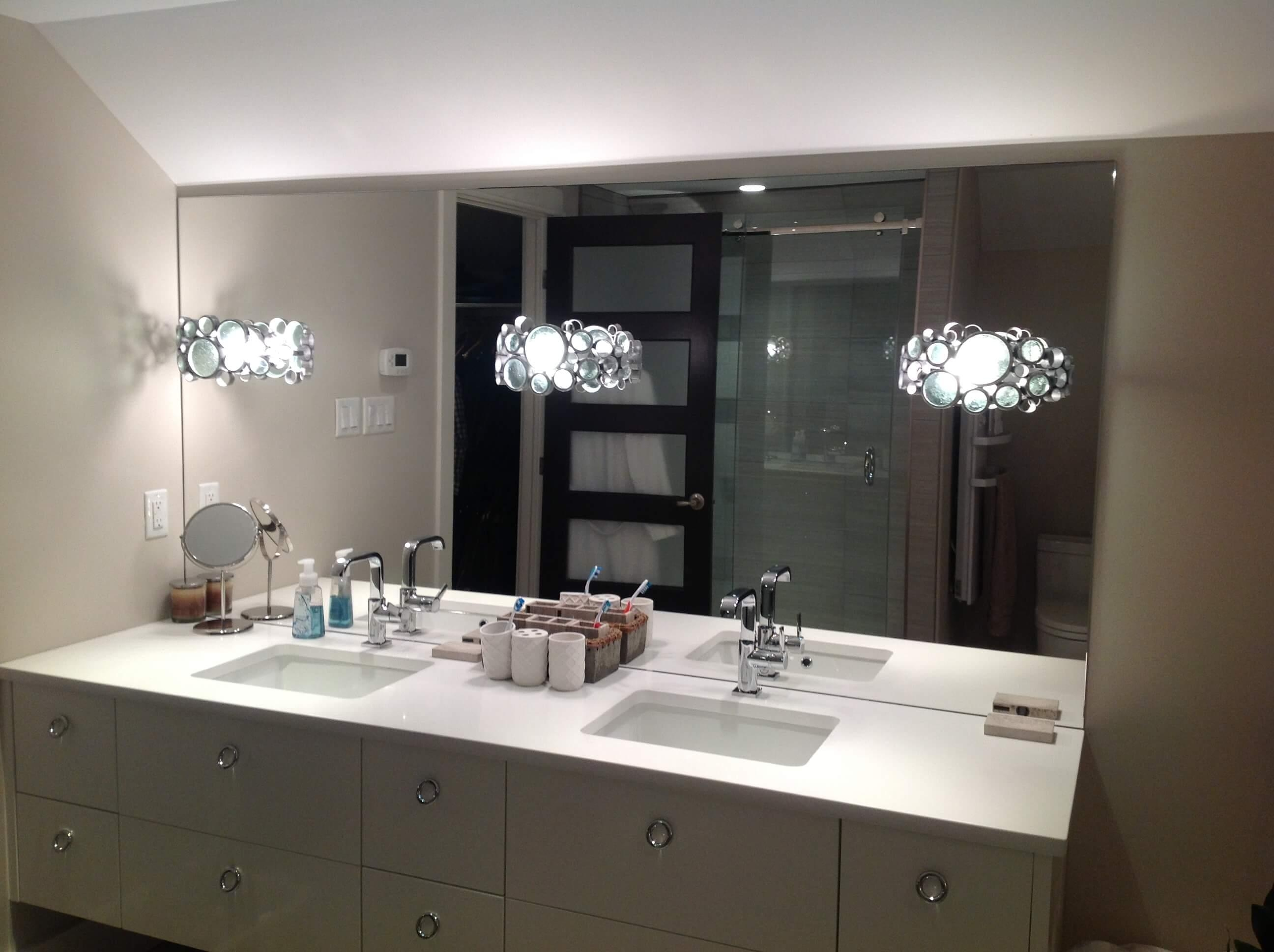 Charming Bathroom Cabinets : Modern Bathroom Mirrors Gold Coast Bathroom Throughout Custom  Bathroom Vanity Mirrors (Image