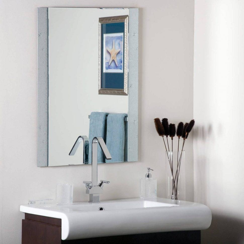 Bathroom Cabinets : Modern Bathroom Mirrors White Vanity Mirror With Large Flat Bathroom Mirrors (View 17 of 20)