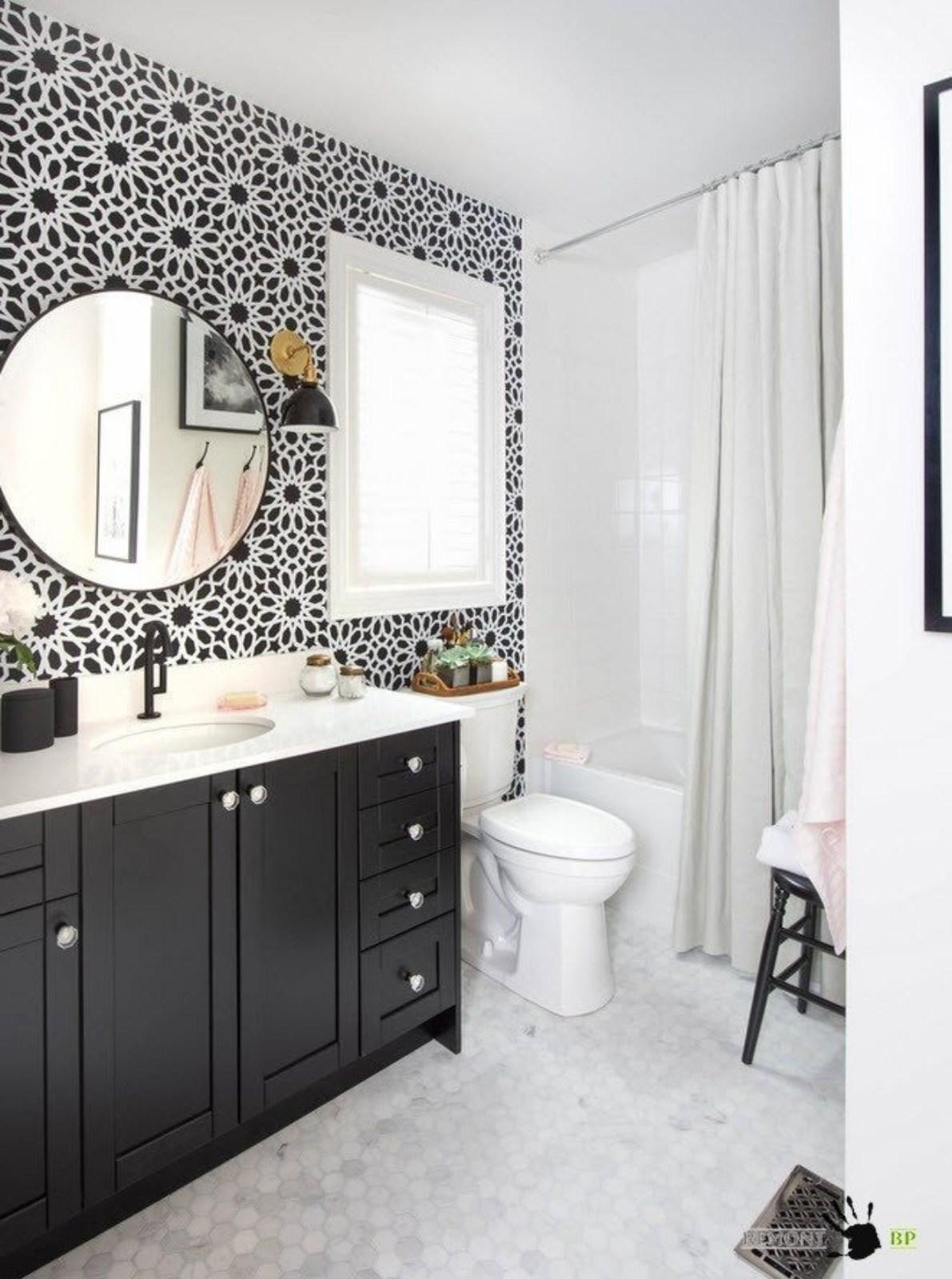 Bathroom Cabinets : Modern Round Bathroom Mirror With Black Throughout Round Mirrors For Bathroom (Image 3 of 20)