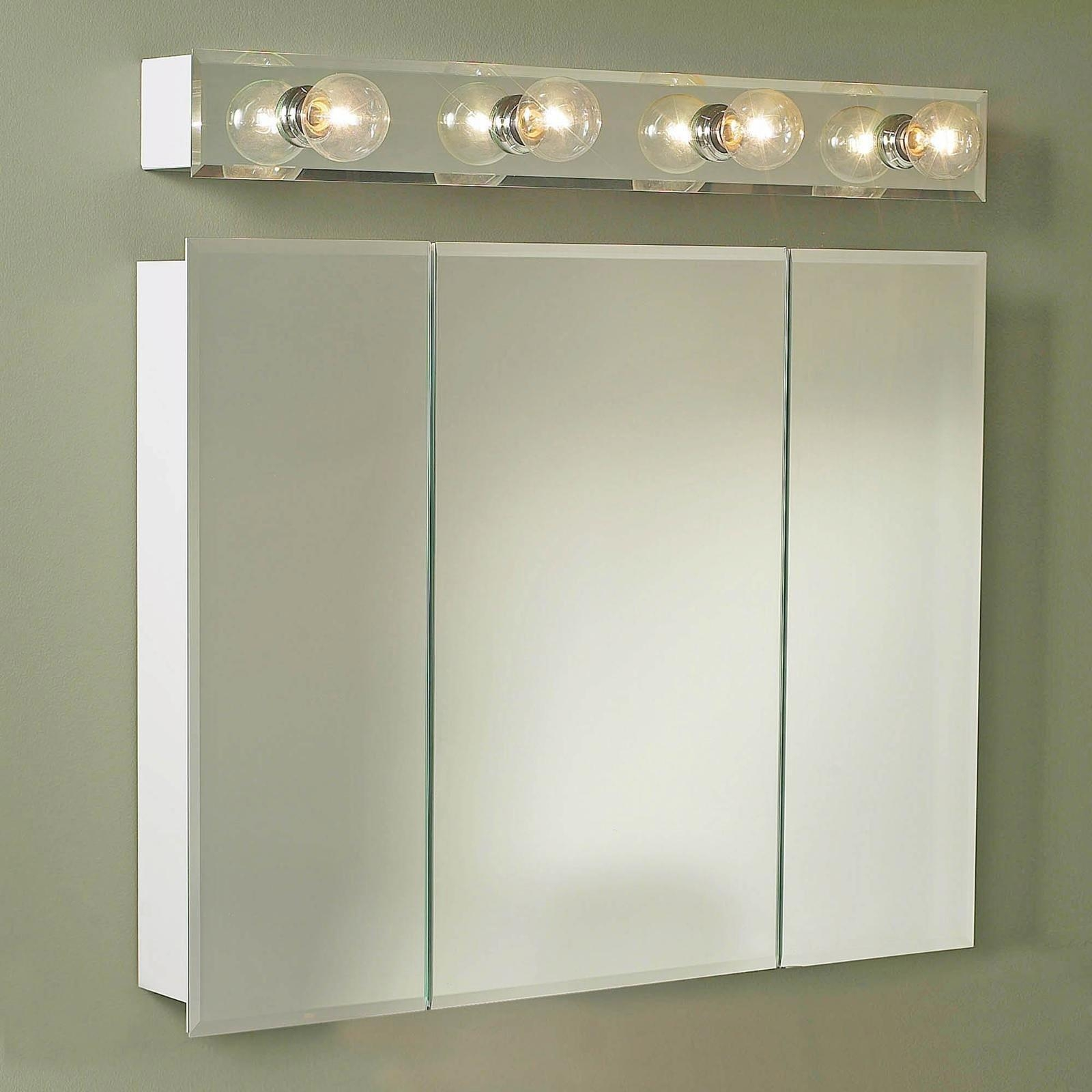Bathroom Cabinets : New Recessed Medicine Cabinets With Lights Intended For Bathroom Medicine Cabinets With Mirrors (Image 6 of 20)
