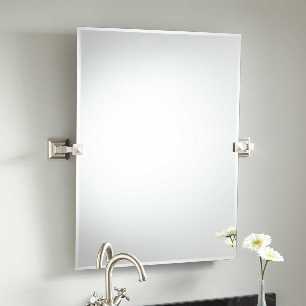 Bathroom Cabinets : Pivot Bathroom Mirror Narrow Mirror Bathroom In Bathroom Extension Mirrors (Image 8 of 20)