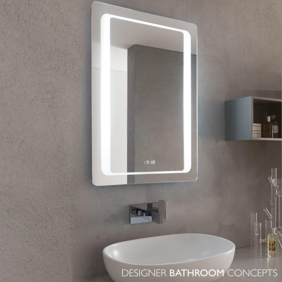 Bathroom Cabinets Platinum Illuminated Led Bathroom Mirrors With In Led Lit Bathroom Mirrors (Image 12 of 20)