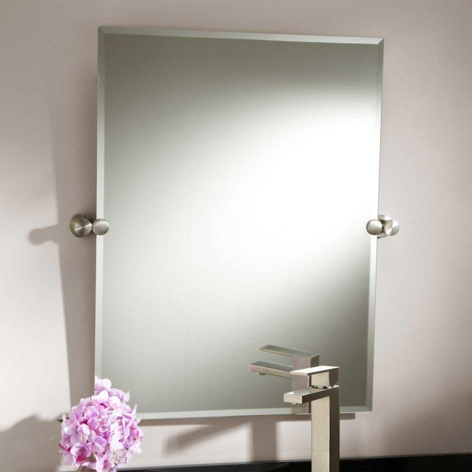 Bathroom Cabinets : Prague Bracket Bathroom Pivot Mirrors Brushed Pertaining To Pivot Mirrors For Bathroom (Image 6 of 20)
