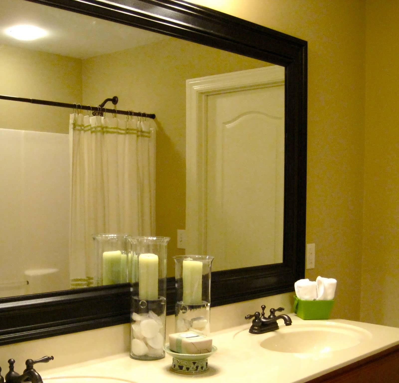 Bathroom Cabinets : Round Bathroom Wall Mirror Full Wall Bathroom For Led Lighted Mirrors (Image 5 of 20)