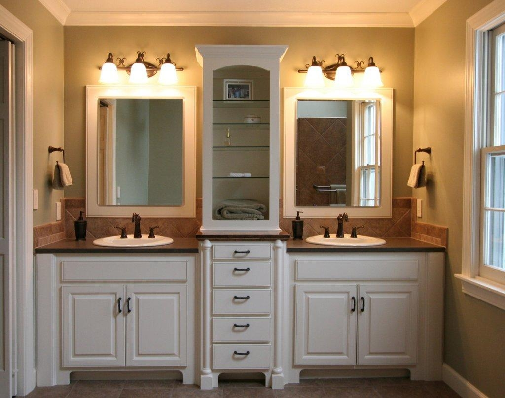 Bathroom Cabinets : Small Bathroom Cabinet Storage Ideas Small Inside Small Bathroom Vanity Mirrors (View 19 of 20)