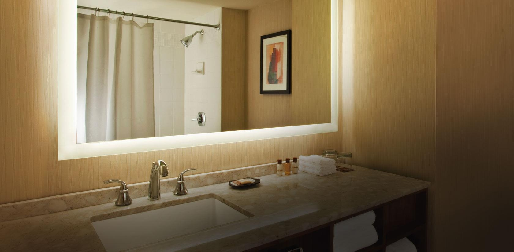 Bathroom Cabinets : Trendy Design Bathroom Lighting Mirror Wall In Light Up Bathroom Mirrors (View 5 of 20)