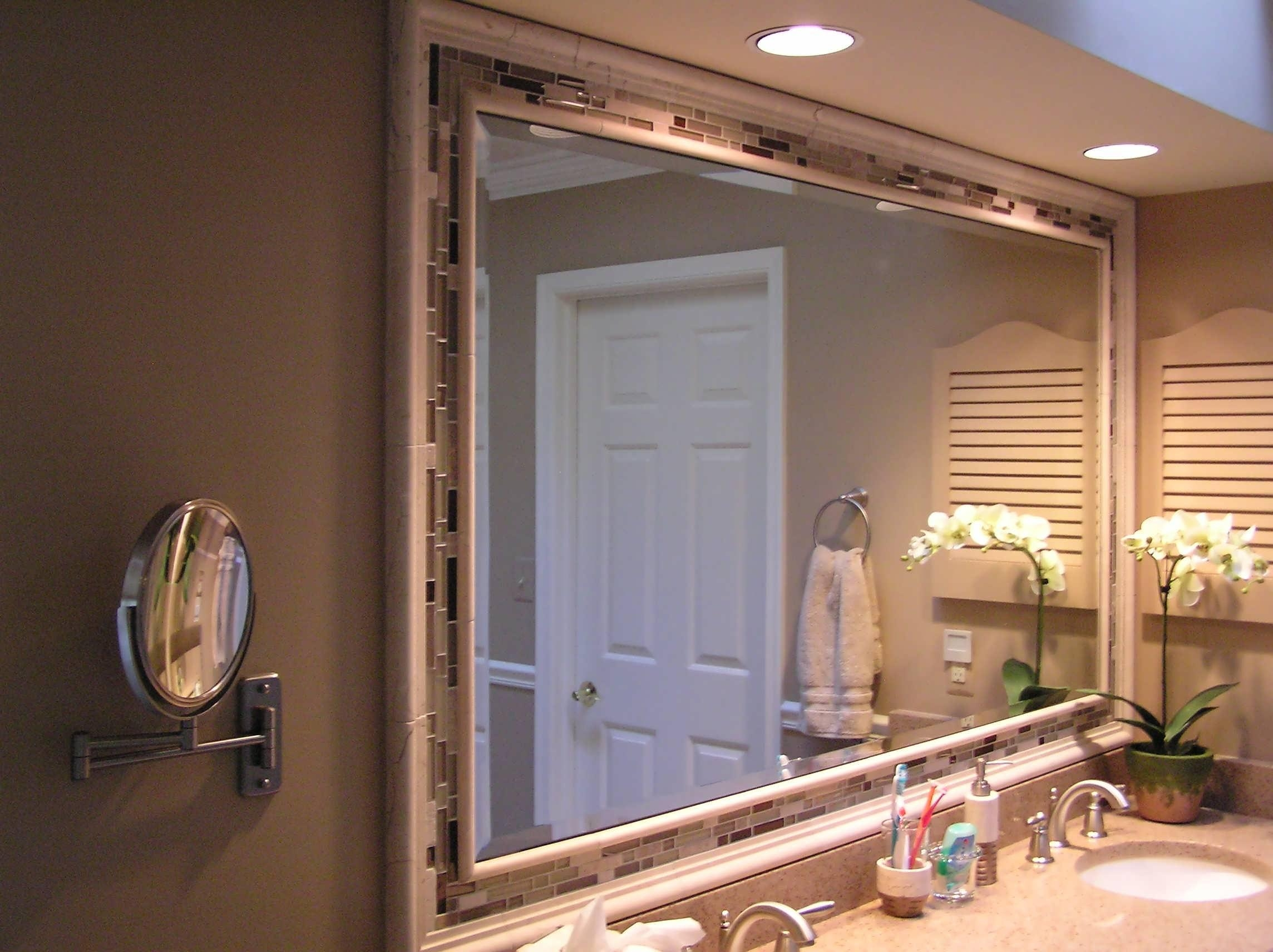 20 Inspirations Large Framed Bathroom Wall Mirrors Mirror Ideas